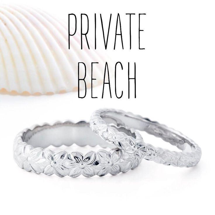 ハワイアンジュエリー リング 結婚指輪 婚約指輪 マリッジリング エンゲージリング エタニティリング ゴールド プラチナ ダイヤ 海 プライベートビーチ 記念日 プレゼント ペアリング ペアジュエリー プルメリア カットアウト サファイア ウェディング wedding