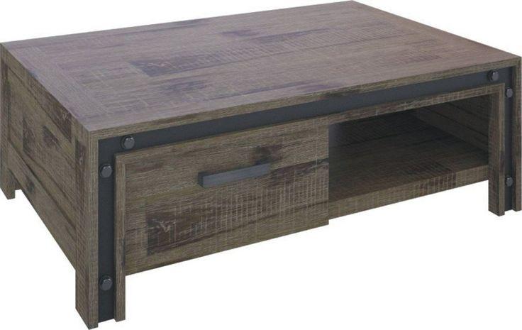 Industrial Look Coffee Table - Weathered Walnut $650