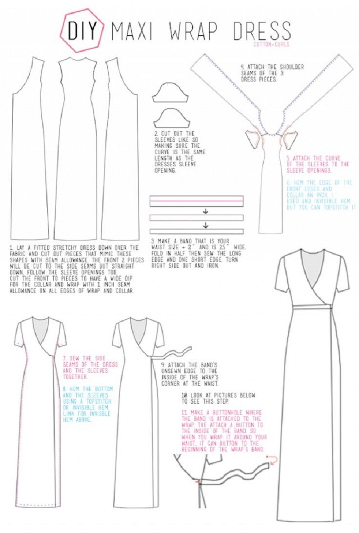 DIY Maxi Wrap Dress - 10 Fashionable DIY Dress Sewing Patterns Perfect for Every Body Shape