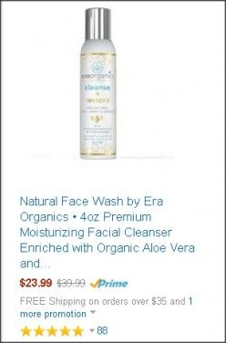 Natural Face Wash by Era Organics. This facial cleanser is perfect for those who have sensitive skin. It doesn't dry out your skin and even soothes acne, eczema, dermatitis, etc. without irritating your skin. Click here for more info --> http://jharzsoriano.hubpages.com/hub/best-face-wash-oily-acne-treatment