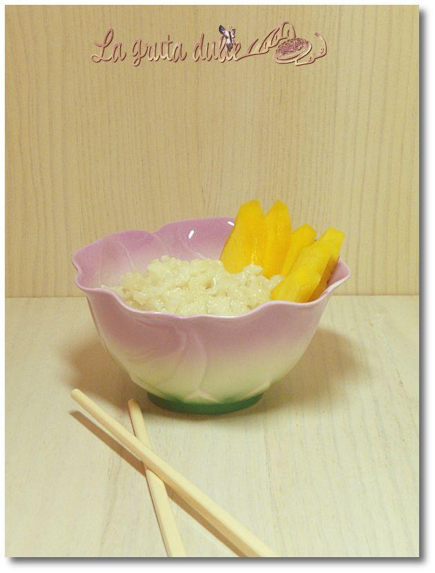 Receta de arroz con leche de coco y mango thai y mi viaje a Tailandia http://www.lagrutadulce.com/lagrutadulce/arroz-con-leche-de-coco-y-mango-o-arroz-pegajoso-thai-y-mi-viaje-tailandia
