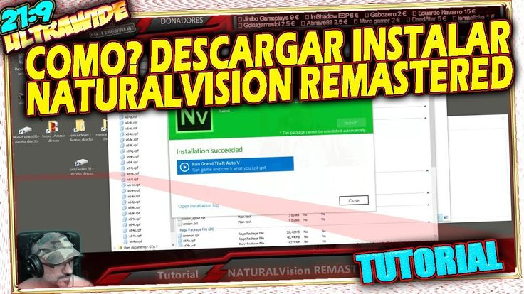 👔 COMO? Descargar Instalar NATURALVISION REMASTERED GTA V MOD GRAFICO gr...