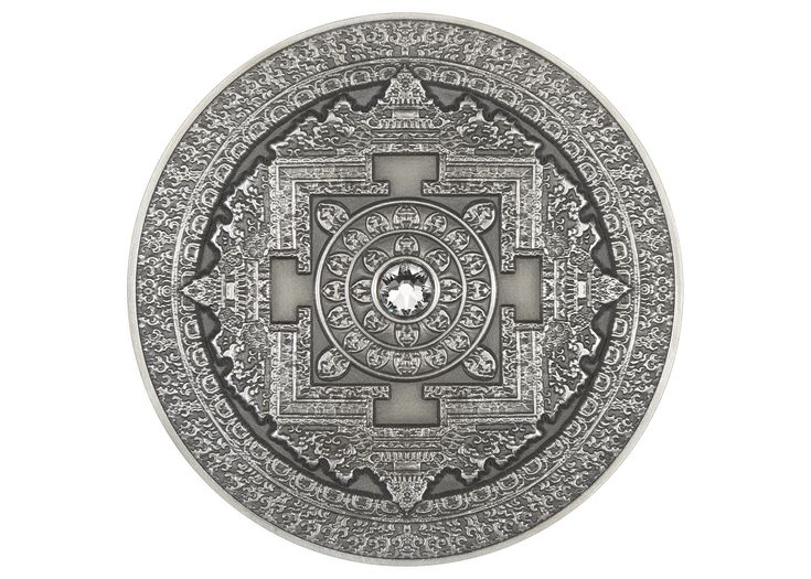 Mandala Art Silver Coin 3 oz – GoldSilverCity – Buy Gold and ...