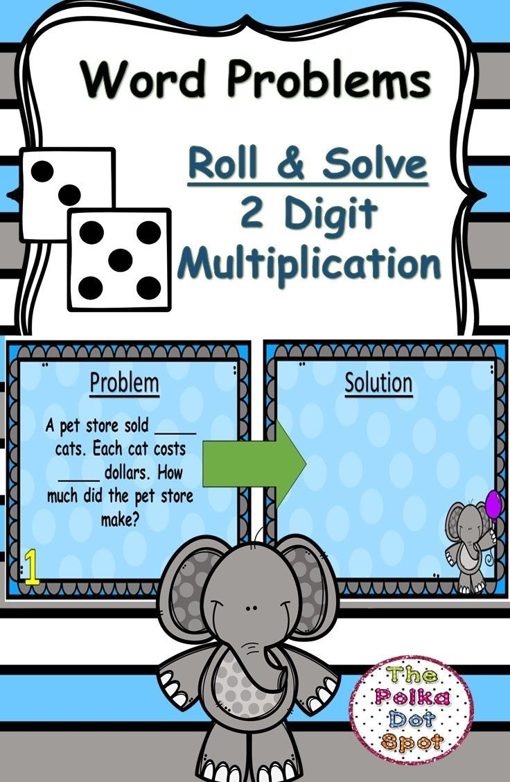 Roll & Solve Multiplication Word Problems Center   Word problems ...