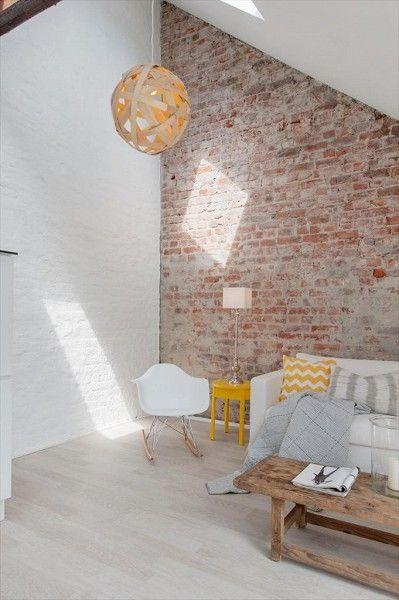 die besten 25 backstein tapete ideen auf pinterest. Black Bedroom Furniture Sets. Home Design Ideas