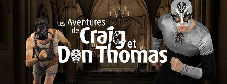 Les aventures de Craig & Don Thomas. 96 pages divisées en 4 volumes tabloïd, à suivre...
