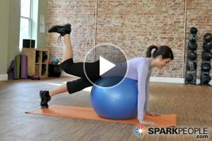 Have a Ball While You Work Your Butt: This glute-toning routine uses nothing more than a stability ball to target and tone every inch! (Pssst: it's fun, too!) | via @SparkPeople #fitness #exercise #workout