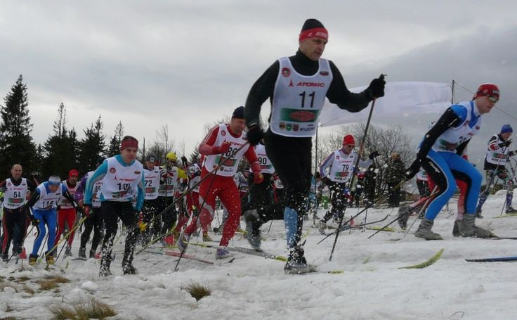Cross Country Cup on Magurka Mountain in Wilkowice in the Polish Beskids.