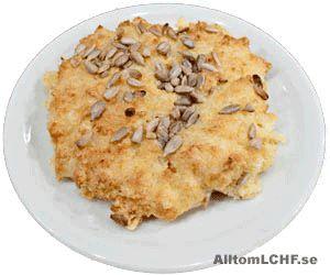 Recept på Lembasbröd - ett LCHF-bröd utan vanligt mjöl.