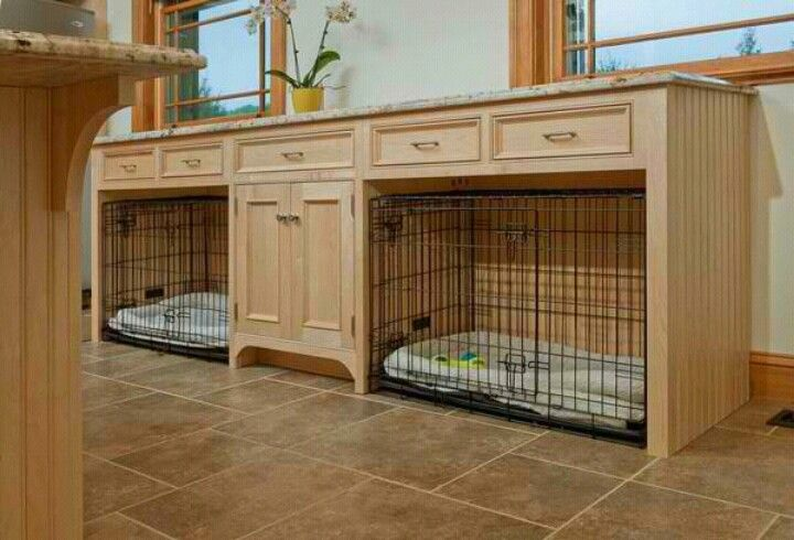 The perfect dog crate furniture piece