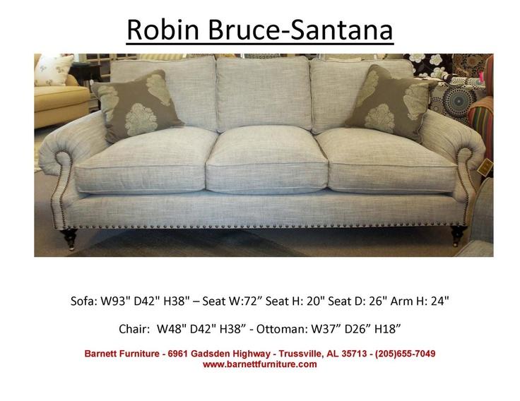 Robin Bruce Santana Sofa You Choose The Fabric Or Leather