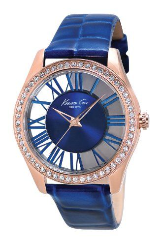 Save $32.68 on Kenneth Cole New York Women's KC2757 Transparency Gold Case Transparent Blue Dial Watch; only $82.32 + Free Shipping