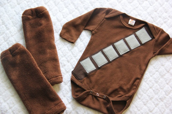 Wookie Onesie, Baby Wookie Costume, Halloween Costume, Chewbacca Onesie, Star Wars Inspired Wookie Costume