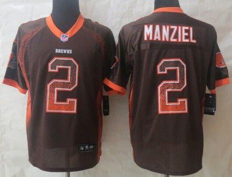 nike cleveland browns 2 johnny manziel 2013 drift fashion brown elite jersey