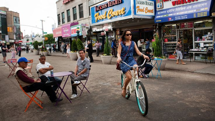 The Queens neighborhood of Jackson Heights combines ethnic diversity with private gardens and still-affordable apartments.