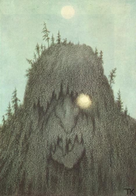 Just stumbled on this searching for something else. It used to be the cover of Penguin's edition of Ibsen's Peer Gynt. Always loved the image of this troll by Theodor Kittelsen. #Okolo web