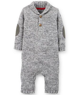 Carter's Baby Boys' Heathered Jumpsuit my baby's coming hone from hospital outfit