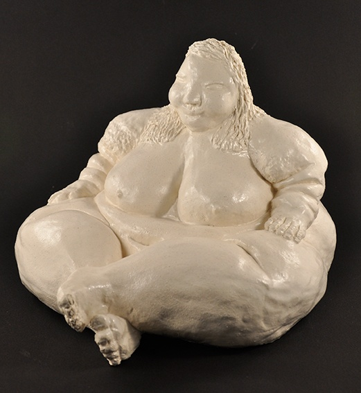 Chris Mason, Not titled (kneeling nude) 2009 ceramic 25 x 27 x 25cm © Artist Represented by Arts Project Australia