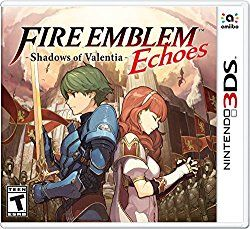 Fire Emblem Echoes: Shadows of Valentia, known as Fire Emblem Echoes: Another Hero King in Japan, is a tactical role-playing game developed by Intelligent Systems and published by Nintendo for the Nintendo 3DS handheld video game console in 2017. Initial release date: April 20, 2017 Developer: Intelligent Systems Genre: Tactical role-playing game Publisher: Nintendo Series: Fire Emblem Artist(s): Akio Shimada; Hidari  Platform: Nintendo 3DS