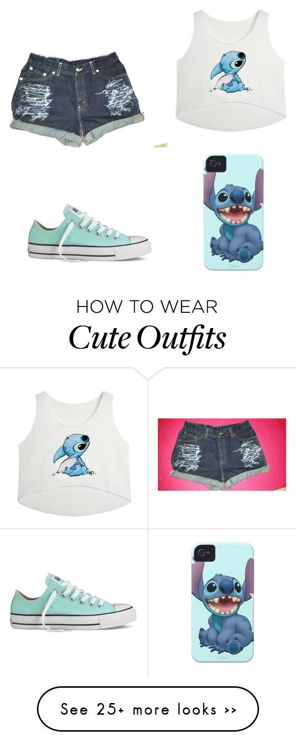 """""""Stitch inspired outfit"""" by niceypooh02 on Polyvore featuring Converse"""