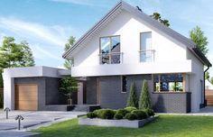 Homekoncept 3 to nowoczesny, elgancki i wygodny dom. Dom został zaprojektowany tak, aby było kilka możliwości manewru w funkcjach domu, np. na parterze łazienkę można powiększyć o prysznic, kosztem dość sporej spiżarni.