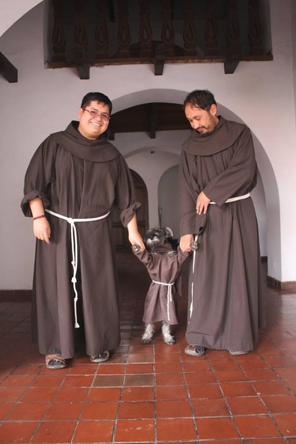 """Adorable Dog Named """"Friar Mustache"""" is Monastery's Cutest New Friar - Neatorama"""