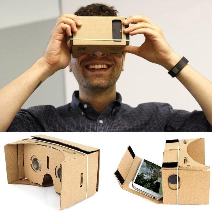 """Vysoká kvalita Vlastní VR DIY kartónů Virtuální realita Brýle 3D Headset VR filmové hry Hlava-Mounted univerzální pro iPhone Samsung 3,5 """"~ 5,5"""" Chytré telefony od tomtop.com"""