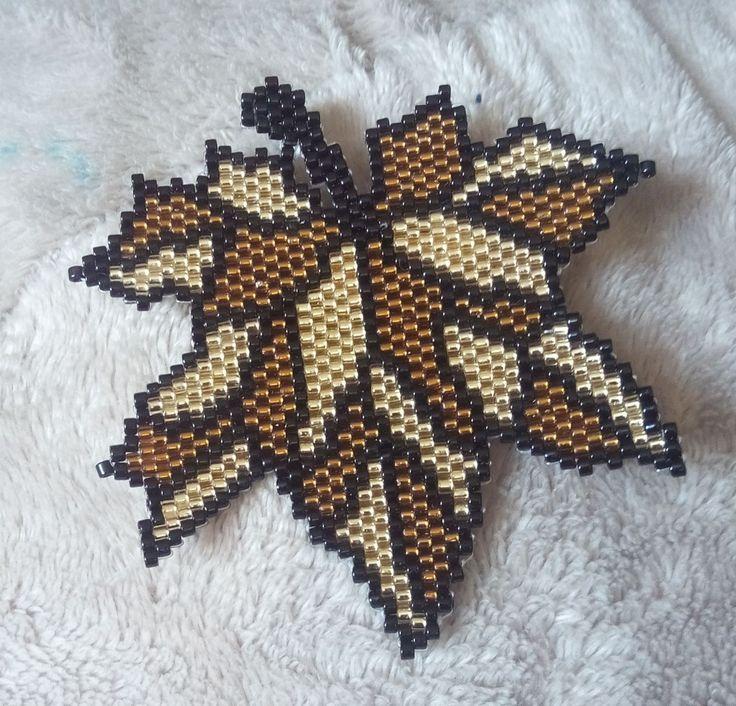 Кленовый лист, кленовый лист... | biser.info - всё о бисере и бисерном творчестве