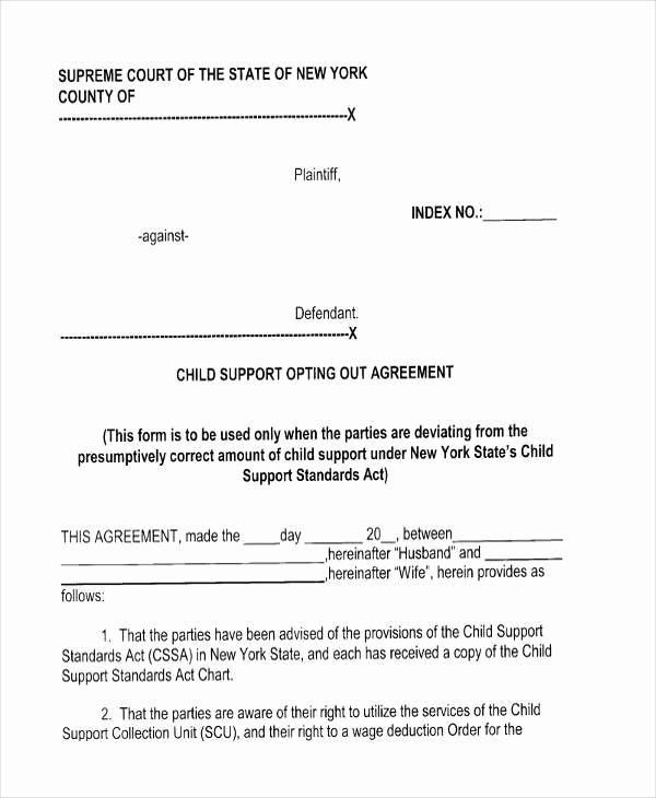 Child Support Agreement Template Beautiful 7 Child Support