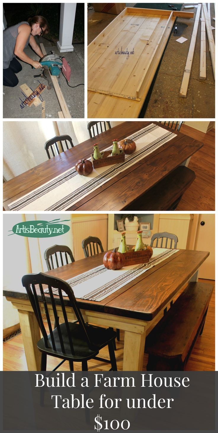 How to build your own FarmHouse Table for under 100