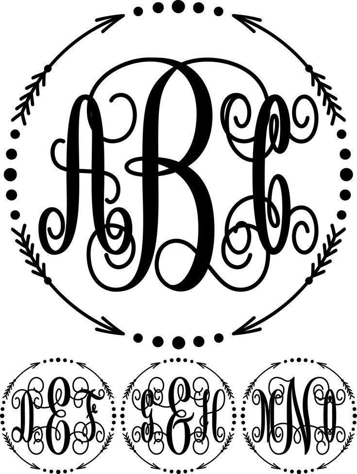 February 2019 Bundle in 2020 Cricut monogram, Free