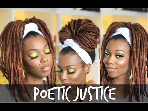 Poetic Justice Head Wrap Tutorial | For Braids, Twists & Locs – YouTube   – Dreadspiration
