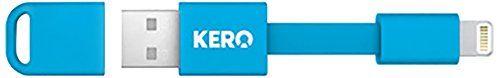 Amazon.co.jp: Apple 認証 MFi 取得品 KERO Lightning Nomad Cable キーロ ライトニング ノマド ケーブル iPhone5 iPhone5s iPhone5c 対応 ライトニングコネクタ (ブルー): 家電・カメラ