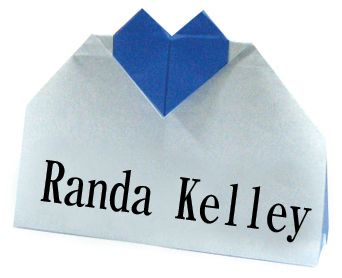 origami Heart Name Stand
