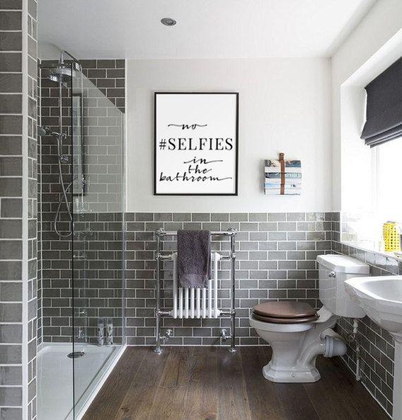Bad Wandkunst, keine Selfies im Bad, lustige Bad Schilder, Kinder Bad Print, WC Zeichen, lustige Wandkunst, Bad Ausdrucke Kunst