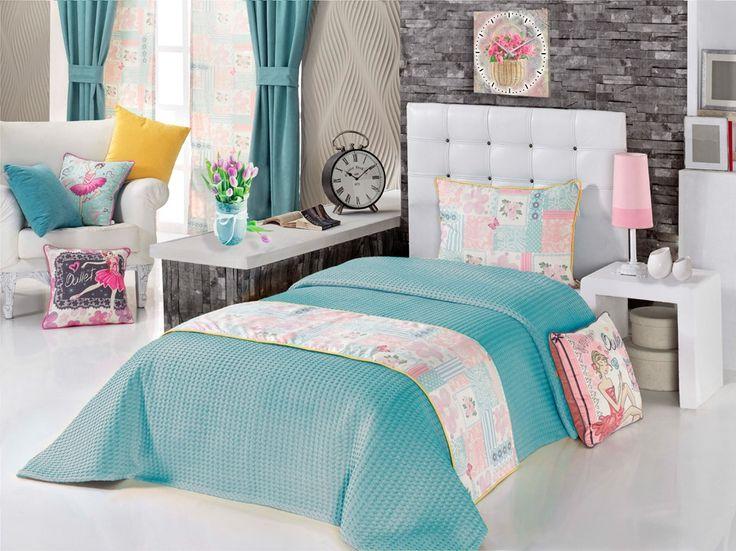 Ev Tekstili  Yatak Runnerleri,   APOLENA,   Apolena Balerinler Çift Kişilik Yatak Runner Takımı,   yatak runneri, runner, yatak ranırı, yatak estetiği