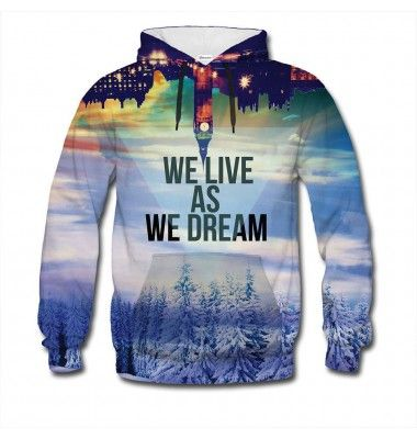 "Originally, this quote by Joseph Conrad said ""We live as we dream - alone."". We found it a tiny bit too depressing, so we came up with a better version. Dream big and live big wearing this jumper. www.bittersweetclth.com"