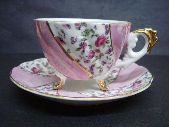 Vintage Cup and Saucer Luster Japan Teacup Set  by Goodoldjewelry, $89.99