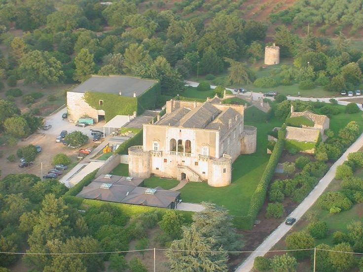 www.castellomarchione.com Castello Marchione - Conversano (BA) (Italia) (www.castellomarchione.com; Facebook: Castello Marchione). Vista dall'alto
