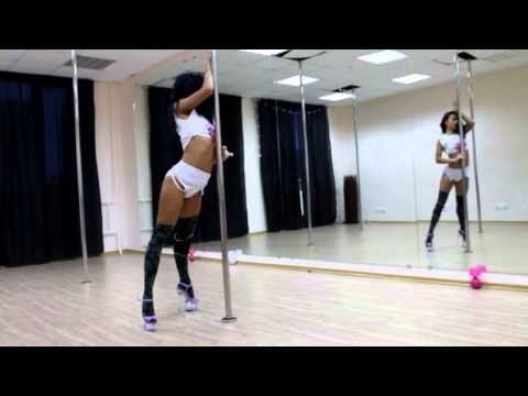 EVA BEMBO POLE DANCE EXOTIC - fantastic floor transitions.