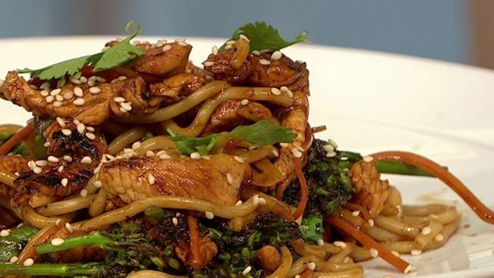 Turkey and sesame stir-fry