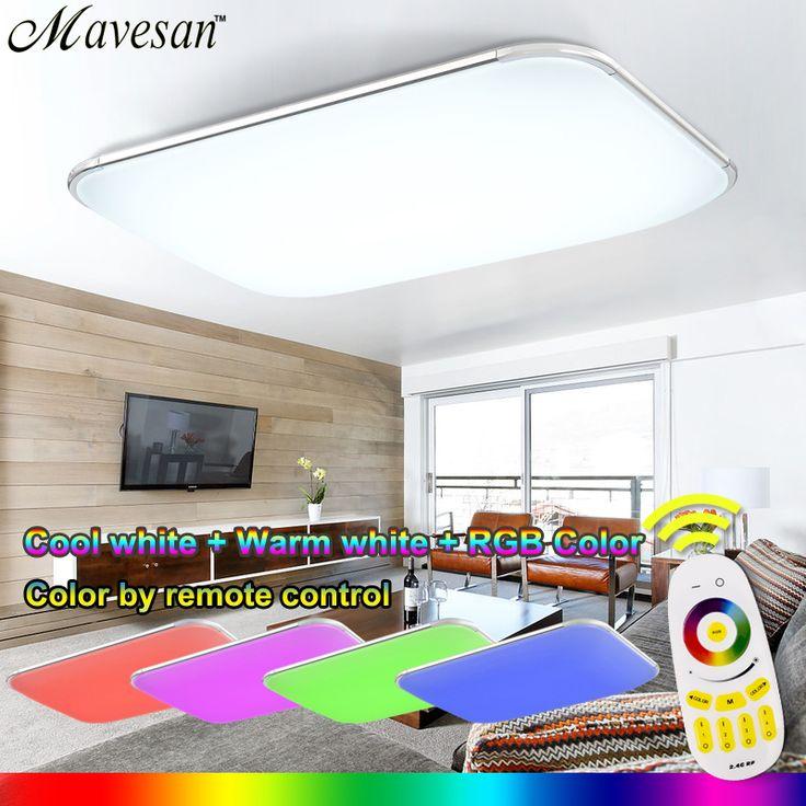 Cute NEUE Moderne Led deckenleuchte Mit RF Remote Gruppe Kontrolliert Dimmbare Farbwechsel Lampe F r Wohnzimmer Schlafzimmer