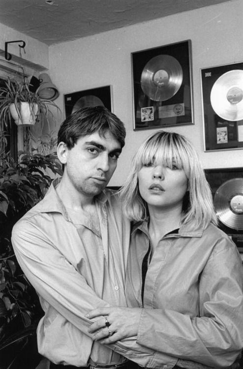 """blondie-poedie: """" Debbie Harry en Chris Stein """""""