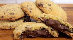 Cookies με σταγόνες σοκολάτας και γέμιση Nutella !!! ~ ΜΑΓΕΙΡΙΚΗ ΚΑΙ ΣΥΝΤΑΓΕΣ