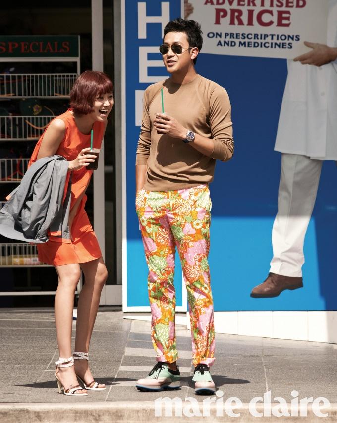 Gong Hyo Jin & Ha Jung Woo (wearing Marc Jacobs)