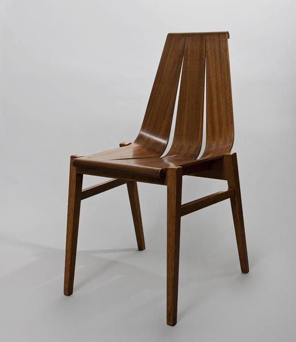 Władysław Wincze, bent plywood chair, 1960, collections of the Architecture Museum in Wrocław, photo: Michał Korta