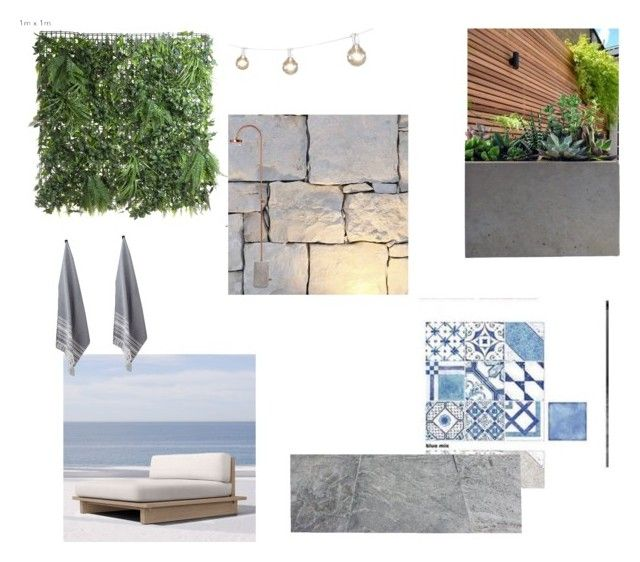 """""""Pool"""" by wood-leanne on Polyvore featuring interior, interiors, interior design, home, home decor, interior decorating, EMAC & LAWTON, Restoration Hardware, Kassatex and Rough Fusion"""