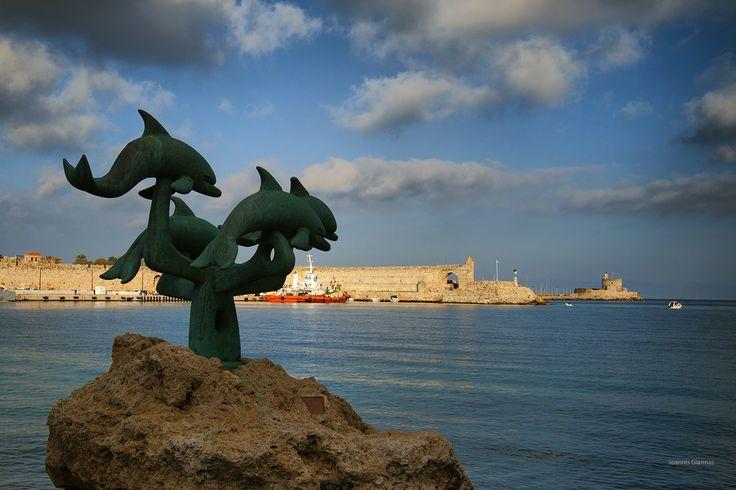 Rhodes  Port view
