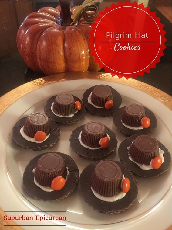 PILGRIM HAT COOKIES - EASY THANKSGIVING DESSERT FOR KIDS! by Suburban Epicurean #thanksgiving #cookies #kidsrecipes