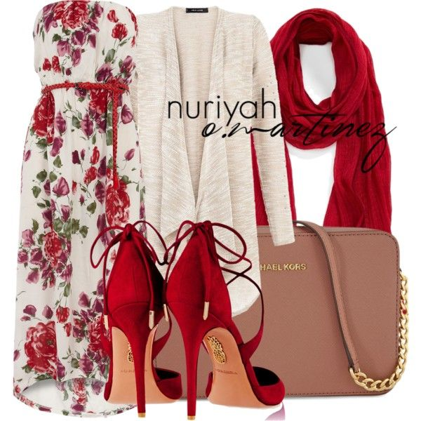 Hijab Outfit #637 by hashtaghijab on Polyvore featuring Dorothy Perkins, Aquazzura, Michael Kors, Roffe Accessories and hijab